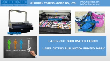 Laser cut sublimated fabric